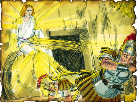 "Jesus is Resurrected by God from the Dead! 30 A.D. Luke 24: God raises Jesus from the dead on the third day to fulfill the scriptures and the words of Jesus. ""The Son of Man must be delivered into the hands of sinful men, and be crucified, and the third day rise again."" The penalty and the power of the grave and sin is broken when God raised Jesus from the dead! – Slide 50"