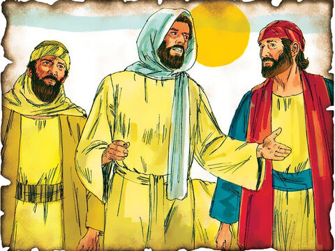 """Jesus on the Emmaus Road! 30 A.D. Luke 24: While walking on the road to Emmaus with two disciples, Jesus opens their eyes to all of the scriptures that spoke of Him. """"And beginning at Moses and all the Prophets, He expounded to them in all the Scriptures the things concerning Himself."""" – Slide 51"""