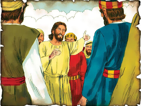 """Jesus Gives His Disciples the Great Commission! 30 A.D. Matthew 28: Jesus gives the greatest commission ever given to mankind. """"Go therefore and make disciples of all the nations, baptizing them in the name of the Father and of the Son and of the Holy Spirit!"""" – Slide 52"""