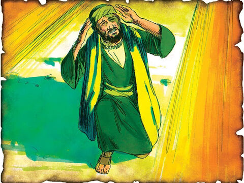 """Saul is Converted and Becomes Paul! 34 A.D. Acts 9: The great persecutor of the church, Saul, is converted on the way to Damascus when he meets Jesus """"Saul, Saul, why are you persecuting Me?"""" And he said, """"Who are You, Lord?"""" Then the Lord said, """"I am Jesus, whom you are persecuting."""" – Slide 56"""