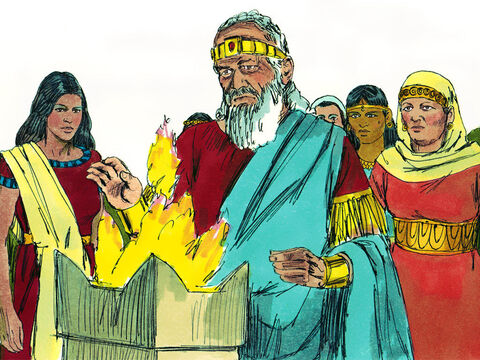The Lord became angry with Solomon for turning away from Him and offering sacrifices to idols. – Slide 4