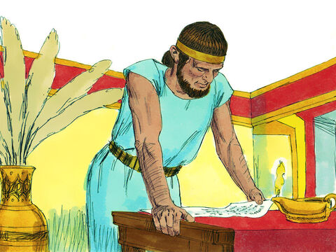 Friends of Jeroboam got a message to him in Egypt to let him know that Solomon was dead. He returned in time for the coronation of King Rehoboam. He immediately became the ringleader of those wanting to make demands on the new king. – Slide 13