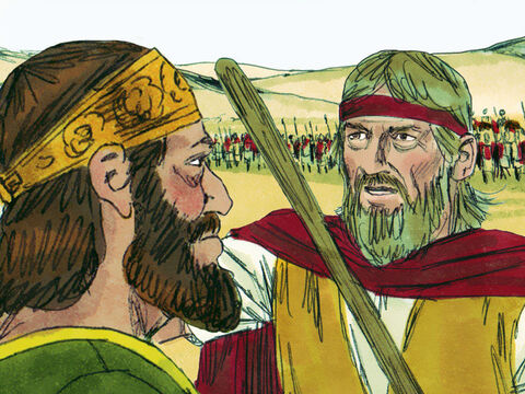 King Rehoboam gathered an army of 180,000 fighters from Judah and Benjamin, to force the rest of Israel to acknowledge him as their king. But God sent the prophet Shemaiah with the following message: 'Tell Rehoboam and the people of Judah and Benjamin that they must not fight against their brothers. Tell them to disband and go home, for what has happened to Rehoboam is according to my wish.' So the army went home as the Lord had commanded. – Slide 22