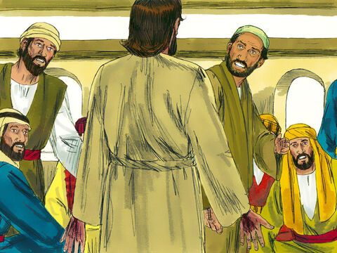 While they were still talking, Jesus himself stood among them and said,'Peace be with you.' They thought they were seeing a ghost and were frightened. – Slide 2