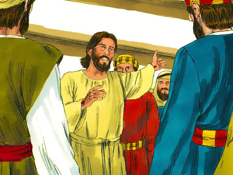 Jesus showed them the scars on His hands and feet where He had been nailed to the cross. The disciples were full of joy and amazement but still thought they were seeing a ghost. 'Do you have anything here to eat?'Jesus asked. – Slide 4