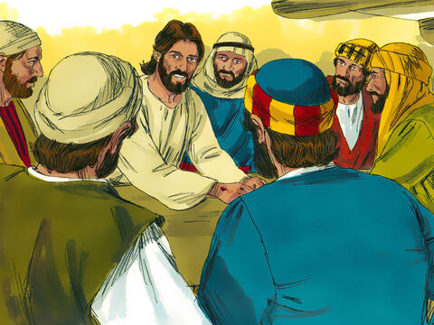 Jesus told them that In His Name repentance for the forgiveness of sins would be preached to all nations, beginning at Jerusalem.'You are witnesses of these things,' Jesus explained. 'I am going to send the Holy Spirit who will give you power from on high.' Jesus then disappeared from their sight. – Slide 7