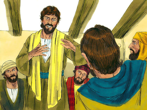 Now one of Jesus' disciples, Thomas, had been missing. When the others told him. 'We have seen the Lord!' he did not believe them. 'Unless I see and touch the nail marks in His hands and put my hand into the wound on His side, I will not believe', Thomas announced. – Slide 8