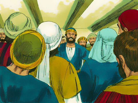 A week later His disciples were in the house again, and this time Thomas was with them. The doors were locked. – Slide 9
