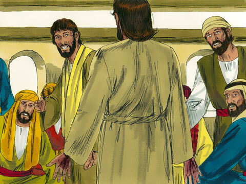 Suddenly Jesus appeared and said 'Peace be with you!' Then, turning to Thomas, Jesus said,'Put your finger here; see my hands. Reach out your hand and put it into my side. Stop doubting and believe.' – Slide 10
