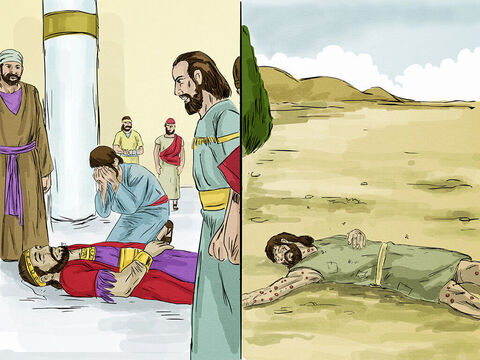 Both the rich man and Lazarus died. – Slide 4
