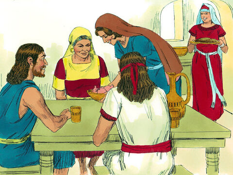 Some time later Elimelek died. The two sons grew up and married local Moabite women, Ruth and Orpah. – Slide 3