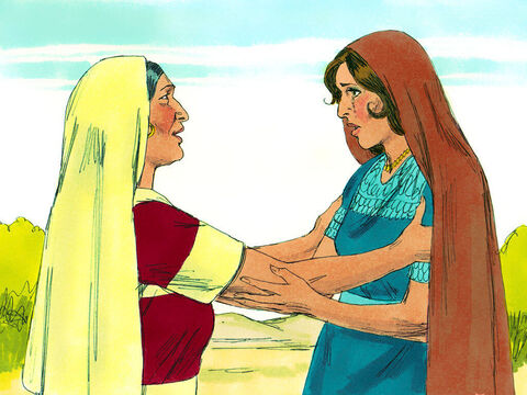 'Orpah has returned to her people and their gods,' said Naomi. 'Go back with her.' – Slide 9
