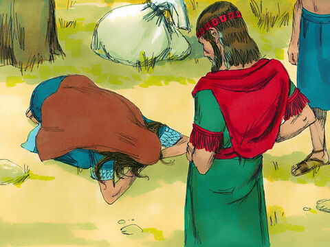Ruth bowed down before Boaz. 'Why are you treating a foreigner so kindly?' she asked. – Slide 5