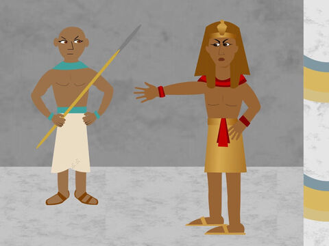 Now when Pharaoh heard what Moses had done he ordered him to be killed but Moses ran away into the desert of Midian. – Slide 11