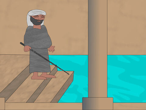 The man obeyed Jesus and made his way to the pool. – Slide 3