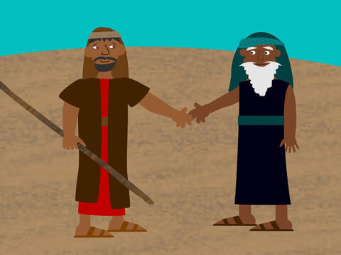 Moses returned to his father-in-law Jethro to say goodbye and then headed for Egypt. – Slide 7