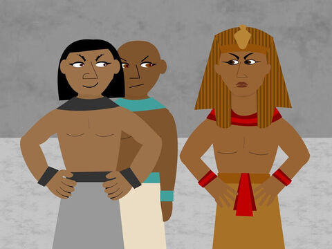 Pharaoh then told his taskmasters to make the Israelite slaves work even harder. Not only did the slaves have to make bricks but they also had to find the straw they needed too. – Slide 2