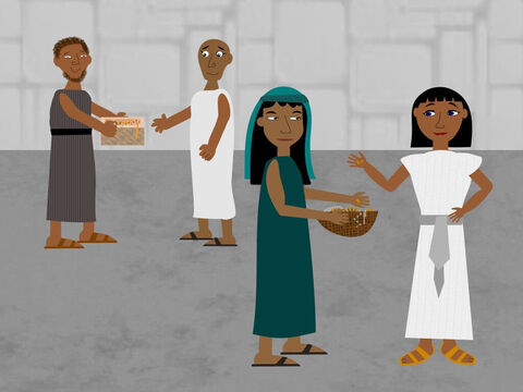 Moses had warned Pharaoh that at midnight the final plague would kill the first-born son in every Egyptian family, even among the animals but the Israelites would be kept safe. <br/>He also told the people to ask the Egyptians for their gold and silver and they gave them their treasures because they believed Moses was a very great man. – Slide 2
