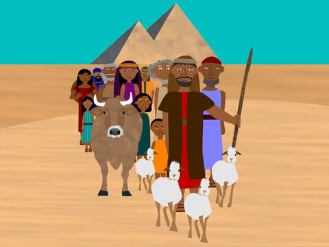The Israelites had lived in Egypt for 430 years but now it was time to go. Thousands of people all marched together with their families and animals out of the land. God had kept His promise to set them free. – Slide 8