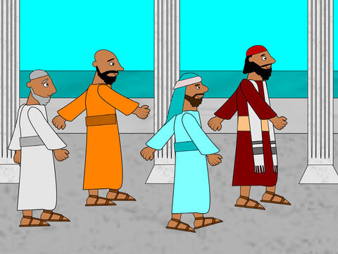 Paul and Silas were in the city of Philippi with some other disciples. One day they went to pray. – Slide 1
