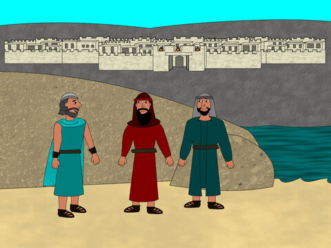 Next Joshua sent two spies into the Promised Land to see what it was like before they entered. He wanted them to find out how well the city of Jericho was defended. – Slide 3