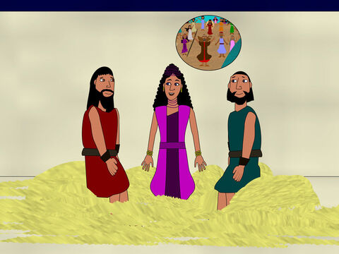 Later that evening Rahab told the spies that the people in Jericho feared God. They knew He had divided the Red sea for HIs people. They had heard God had defeated King Og and King Sihon and that He was powerful enough to give the land to the Israelites. – Slide 8