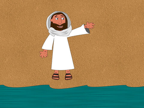Jesus said to them, 'Throw your net on the right side of the boat and you will catch some fish.' – Slide 5