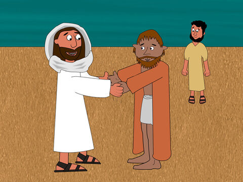 Then Jesus said to Peter, 'When you were young you dressed yourself and went where you wanted. But when you are old someone else will dress you and take you where you do not want to go.' <br/>Jesus said this to explain how Peter would give his life for the gospel. – Slide 16
