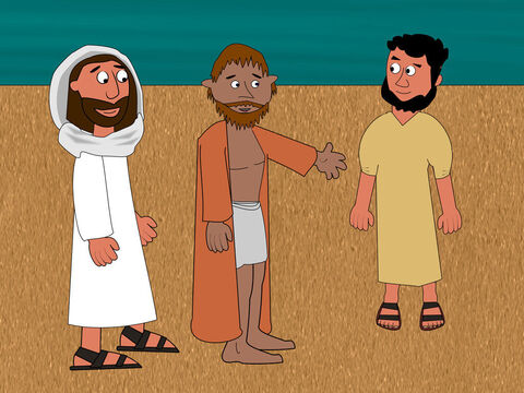 Then Peter turned around and saw John the disciple and said to Jesus, 'What about him?' – Slide 17