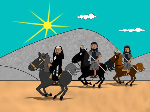 Some of those who believed Jesus as their Saviour were living in a city called Damascus. So Saul travelled there to arrest them. – Slide 2