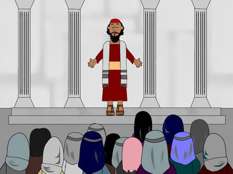 Soon after this, Saul visited other Christians in the city and went to the synagogues to tell them about Jesus, the Son of God. The Christians were amazed because Saul had once been their enemy and now he was telling them he too believed that Jesus was the Saviour of the world. – Slide 10