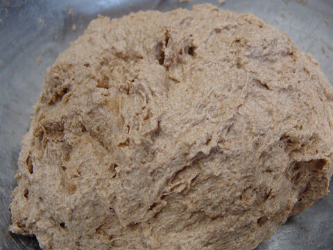 'If you add too much water, it will be too sticky to knead. If you don't add enough water, it will be dry and crumbly, and the dough will not stick together enough to make the bread.' – Slide 7
