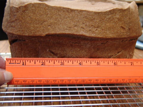 A baked loaf was 10 etzba (7.5 inches, 19 cm) long. – Slide 16