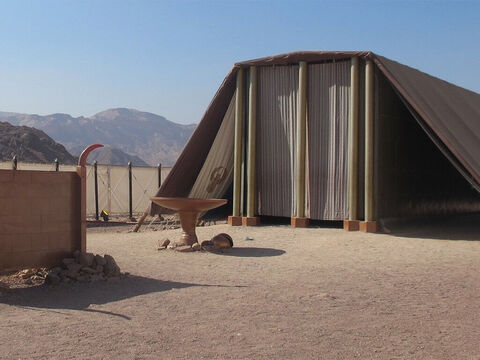 A modern-day reconstruction of the Tabernacle at Timna in Israel. – Slide 22