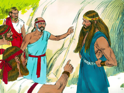So 3,000 men of Judah went down to get Samson at the cave in Etam. They said to Samson, 'Don't you realise the Philistines rule over us? What are you doing to us?' Samson replied, 'I only did to them what they did to me.' – Slide 9