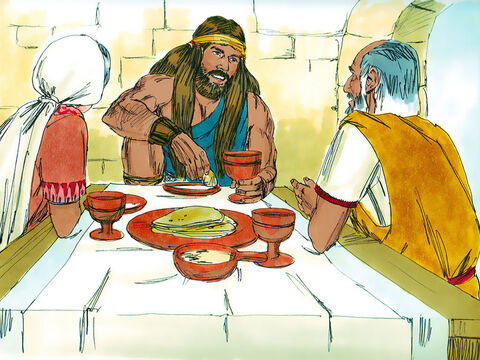 The Lord blessed Samson as he grew up and the Spirit of the Lord stirred in him. His hair was not cut and he did not drink wine or eat forbidden food. – Slide 11