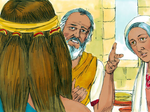 His father and mother objected. 'Isn't there even one woman in our tribe or among all the Israelites you could marry?' they asked. 'Why must you go to the pagan Philistines to find a wife?' Samson refused to listen to them, demanding the marriage be arranged. – Slide 13