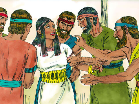 Three days later they were still trying to figure it out.  On the fourth day they said to Samson's wife, 'Entice your husband to explain the riddle for us, or we will burn down your father's house with you in it. Did you invite us to this party just to make us poor?' – Slide 16