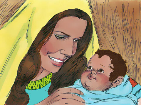 Soon after returning home, Hannah became pregnant and later gave birth to a baby boy. She and Elkanah named him Samuel,for she said, 'I asked the Lordfor him.' – Slide 11