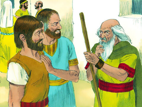 Then Jesse called his next oldest son Abinadab but Samuel said, 'No, the Lord hasn't chosen him either.' – Slide 6