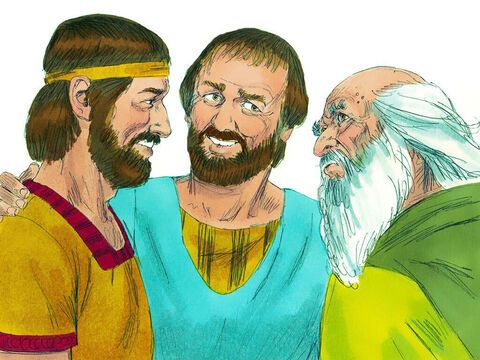 Jesse then brought Shammah. 'No, the Lord hasn't chosen him either,' said Samuel. – Slide 7
