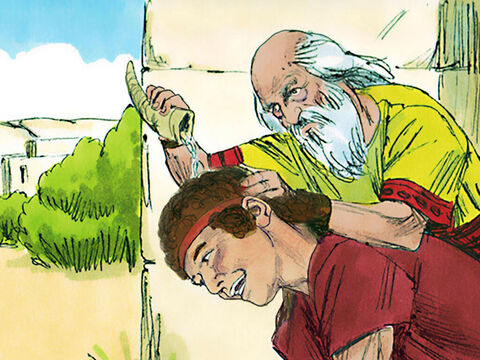 Samuel took the olive oil and anointed David in front of his brothers. Immediately the spirit of the Lord took control of David and was with him from that day on. – Slide 12