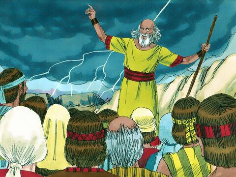 That day the Lord thundered with loud thunder against the Philistines and threw them into a panic. – Slide 19