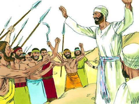 At that time the Philistine army had defeated the Israelites in battle. So they sent men to Shiloh to bring the Ark of the Covenant to them to take into battle. Hophni and Phinehas, the sons of Eli, were with the Ark of the Covenant of God.It was not something God had told them to do. – Slide 17