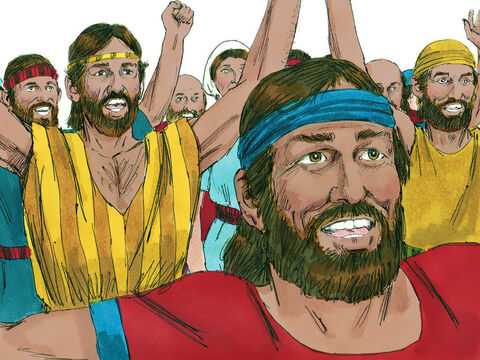 So Samuel said to the Israelites, 'Everyone go back to your own town.' – Slide 6