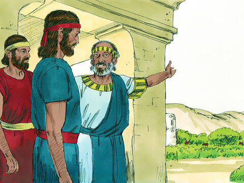 There was a man from the tribe of Benjamin called Kish who had a son called Saul. Saul was a handsome young man who was a head taller than everyone else. Kish had lost his donkeys and asked Saul to take a servant and search the hill country to find them. – Slide 7