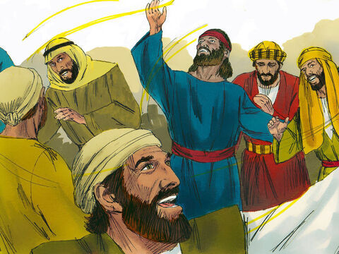 These things all happened as Samuel said. When he arrived at Gibeah, a procession of prophets met him. The Spirit of God came powerfully upon him, and he joined in their prophesying. 'What is this that has happened to the son of Kish?' people asked, 'Is Saul now a prophet?' – Slide 16