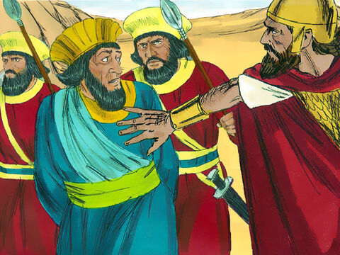 They captured Agag the King of the Amalekites. But instead of following God's orders King Saul spared his life and took him as a prisoner. – Slide 8