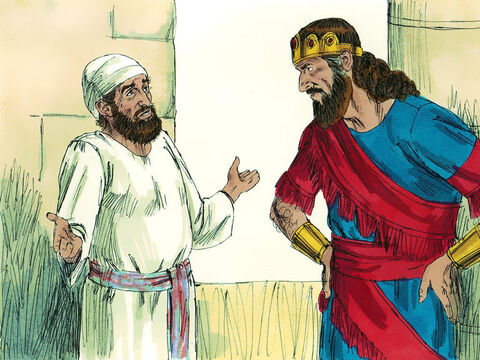 Saul tried to find out what the Lord wanted him to do but the Lord gave no answer. So Saul foolishly decided to do something that God had strictly forbidden - visit a medium (a person who claims to be able to speak to the spirits of the dead). – Slide 4