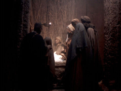 ... and found the stable where Mary and Joseph were staying ... – Slide 10